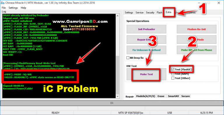 How To Check Mediatek MTK Cpu Flash ic Cm2 Dongle