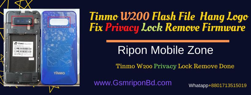 Tinmo W200 Lcd &DeadRepairFixRom